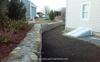 Natural Fieldstone Retaining Wall