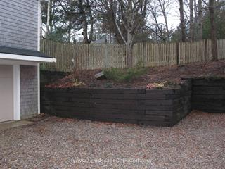 Old Railroad Tie Retaining Walls