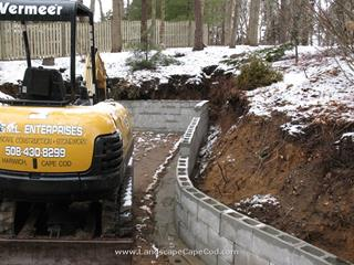 Stone Retaining Wall Preparation