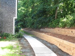 Landscaping timbers are most often used to build retaining walls and provide support for other raised or enclosed structures or gardens.