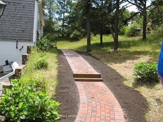Paver Walk with Tie Steps