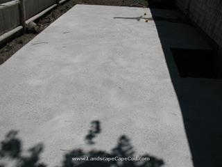 Concrete slab construction.