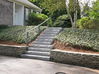 Flagstone Wall with Granite Steps