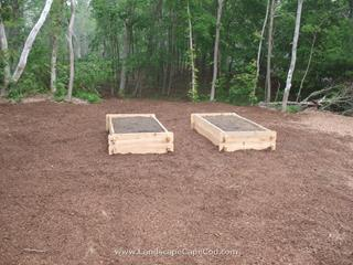 Timber Retaining Walls and Raised Planting Beds
