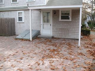 Interlocking Paver Patio with Granite Step