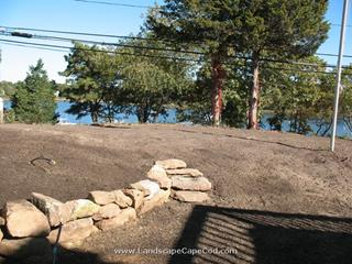 Natural Stone Retaining Wall, Ryders Cove, North Chatham