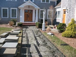 Bluestone side walk, bluestone patios and bluestone pool decking in Chatham