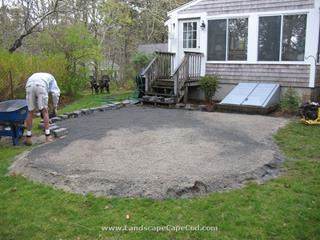 Paver patio construction in Orleans