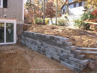 Walk Out Retaining Wall