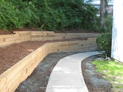 Click to view album: Timber Retaining Wall