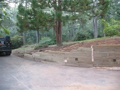 Click to view album: Landscape Timber Retaining Wall